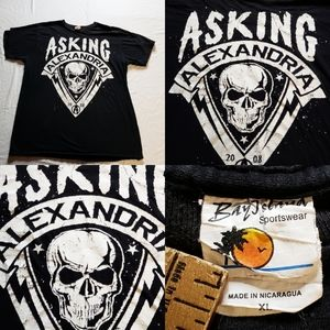 2008 Asking Alexandria Concert Tour Album Tshirt